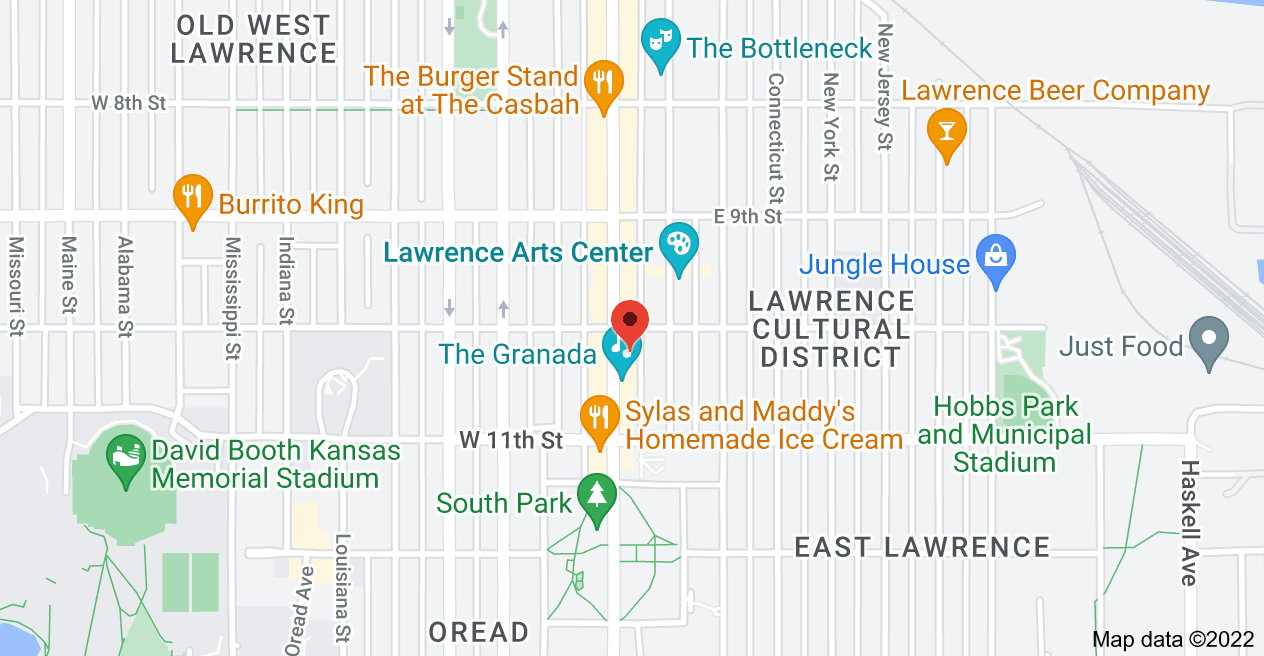 Map of 1012 Massachusetts St, Lawrence, KS 66044