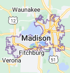 Map of Madison, Wisconsin