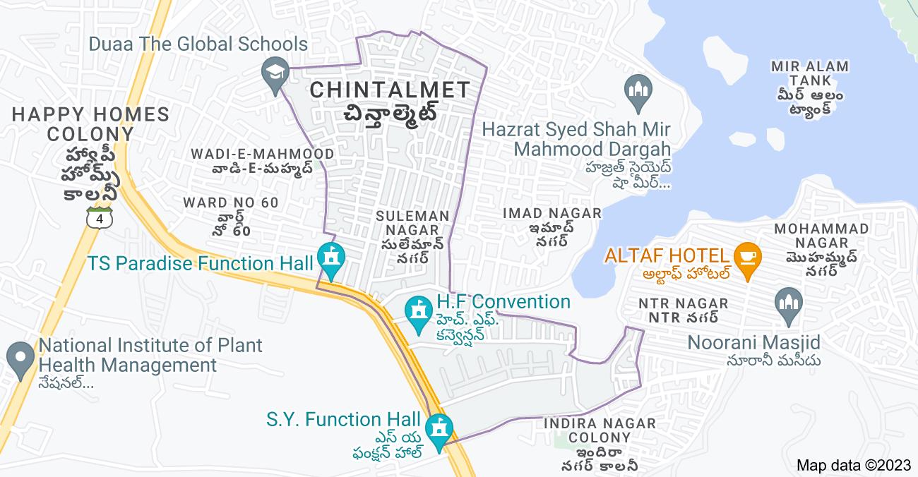 Map of Suleman Nagar, Chintalmet, Hyderabad, Telangana, India