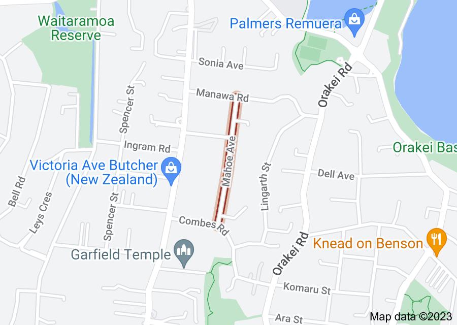 Location of Mahoe Avenue