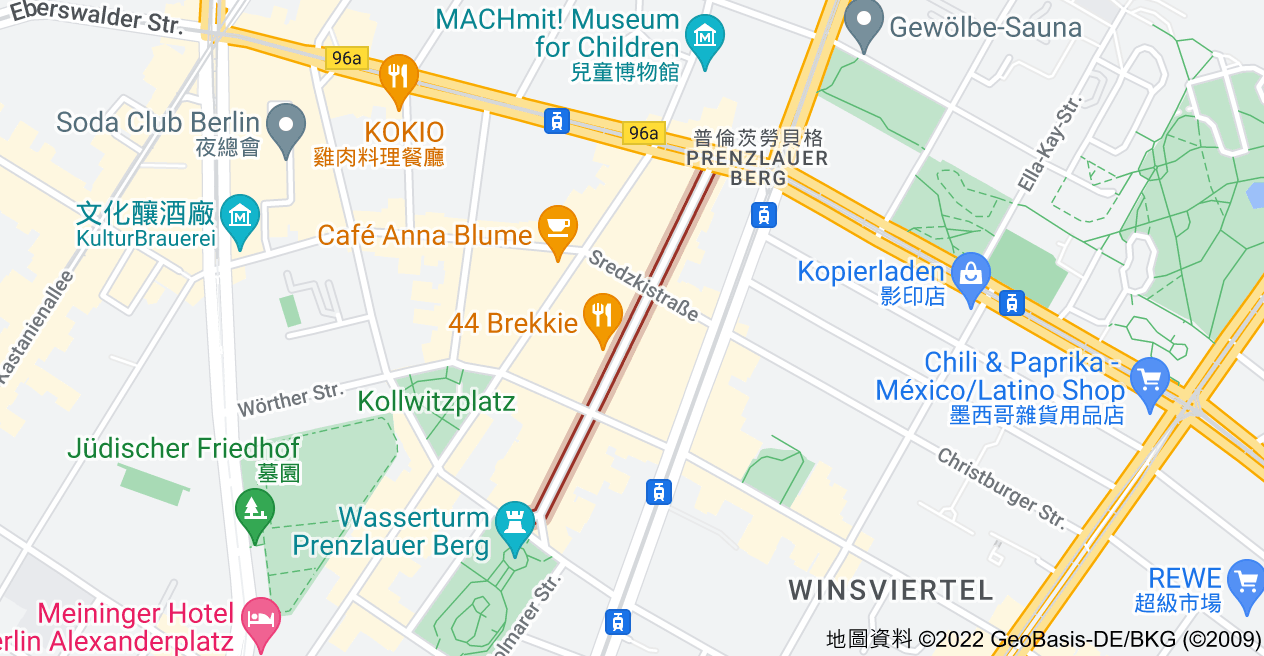 Rykestraße, 10405 Berlin, 德國地圖