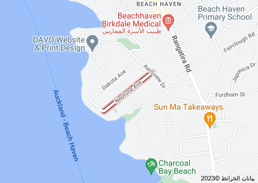 Location of Neptune Avenue