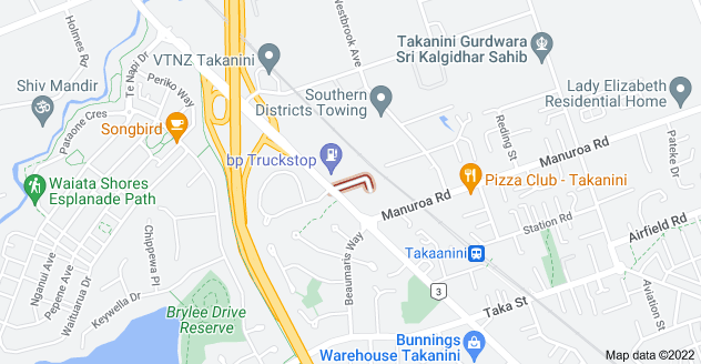 Location of Manuia Road