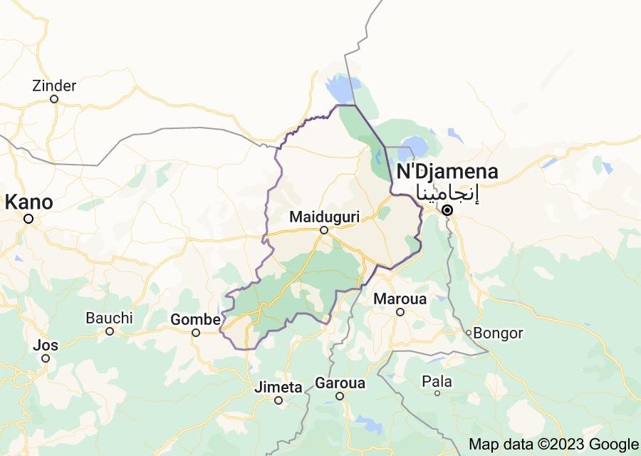 Location of Borno State