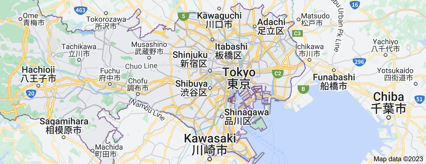 Location of Tokyo