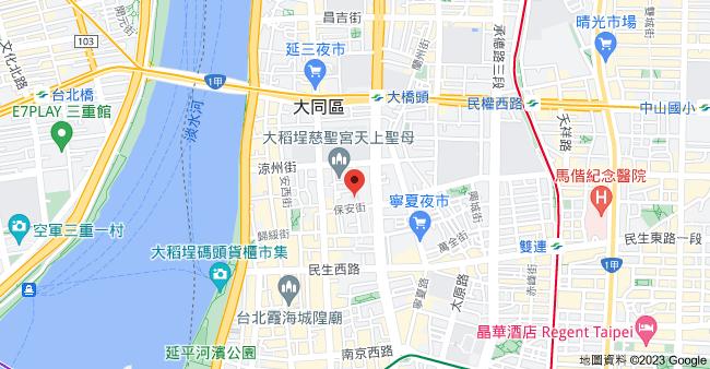 103台北市大同區甘州街34號地圖