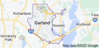Map of Garland, Texas