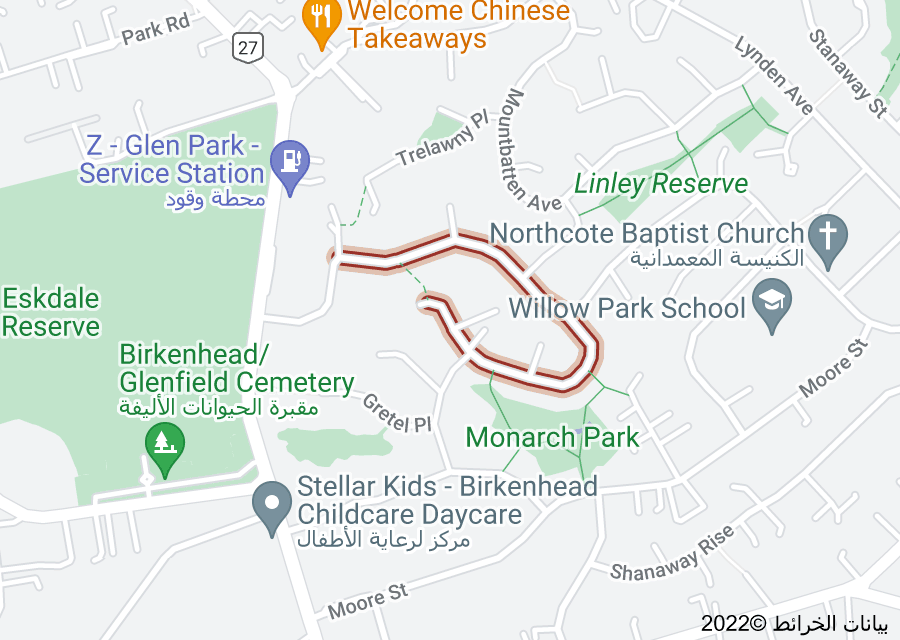 Location of Monarch Avenue