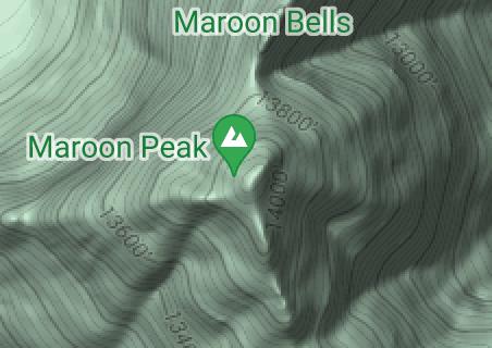Map of Maroon Bells