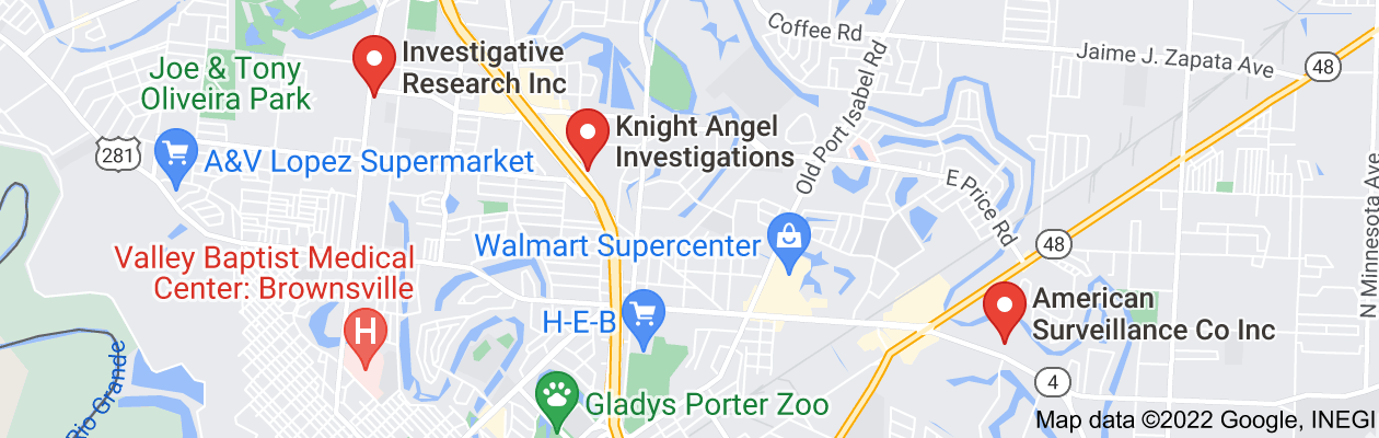 Map of private investigator brownsville tx