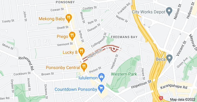 Location of Anglesea Street