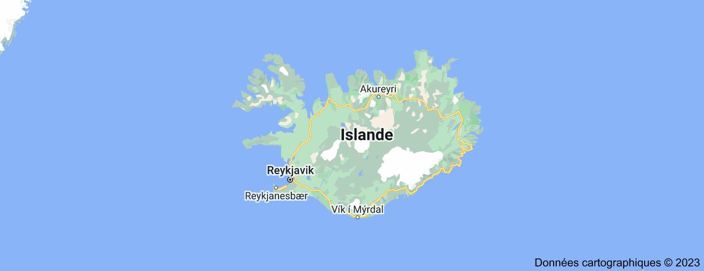 Location of Islande