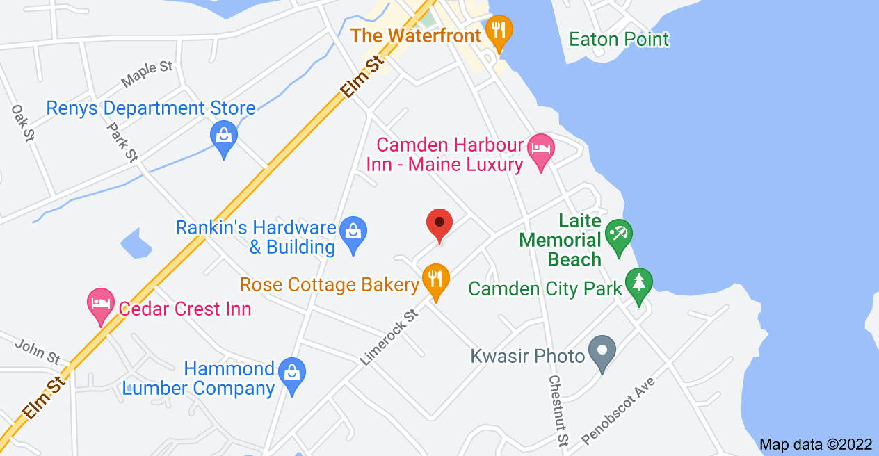 Map of 14 Jacobs Ave, Camden, ME 04843