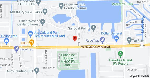 Map of 2701 W Oakland Park Blvd STE 225, Oakland Park, FL 33311