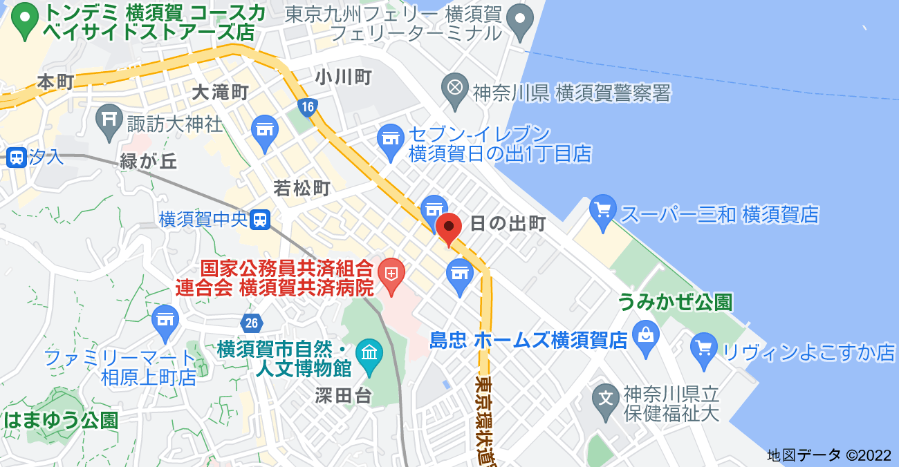 〒238-0011 神奈川県横須賀市米が浜通1丁目4の地図