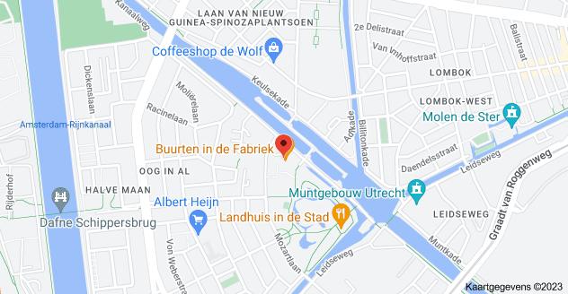 Met liefde Kaart van Cereolfabriek, Kanaalweg 91, 3533 CK Utrecht