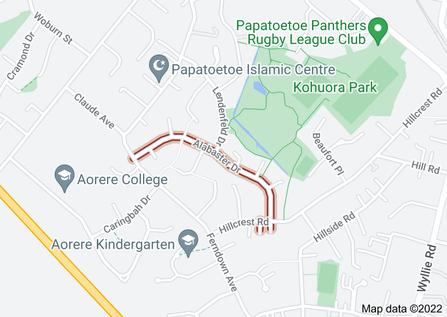 Location of Alabaster Drive