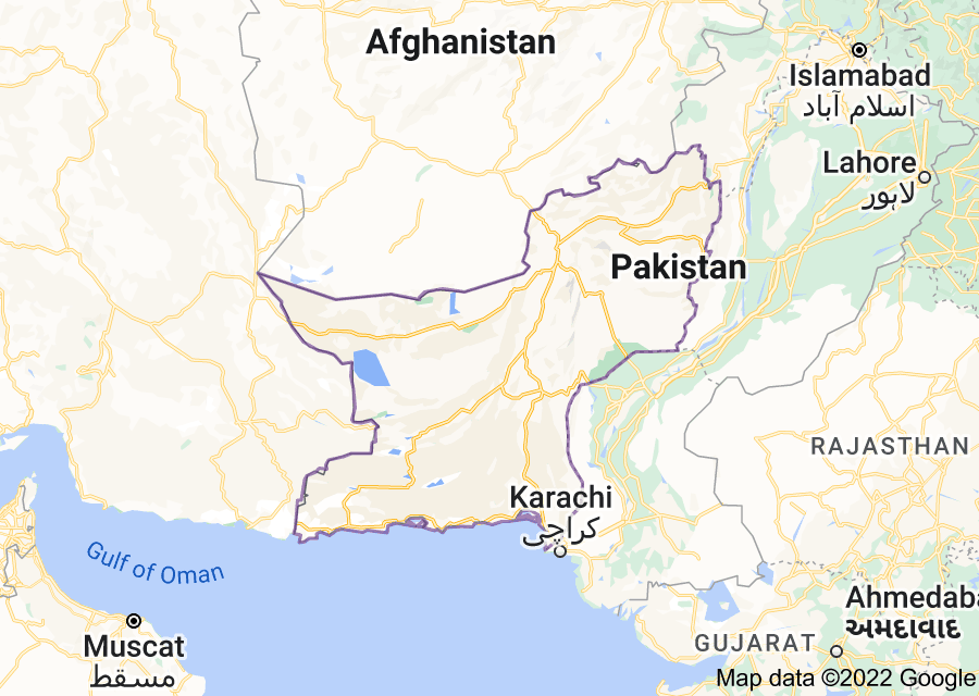 Location of Balochistan
