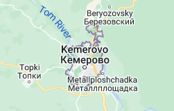 Map of Kemerovo Russia