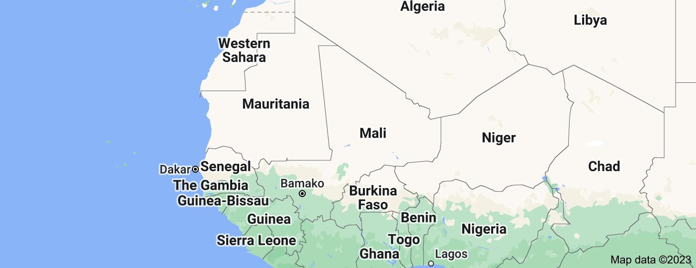 Location of Mali