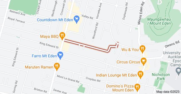 Location of Prospect Terrace