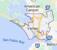 Map of Vallejo, California