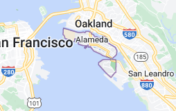 Map of Alameda, California