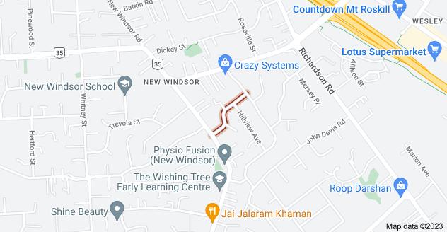 Location of Peter Mulgrew Street