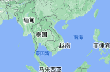 Location of 越南