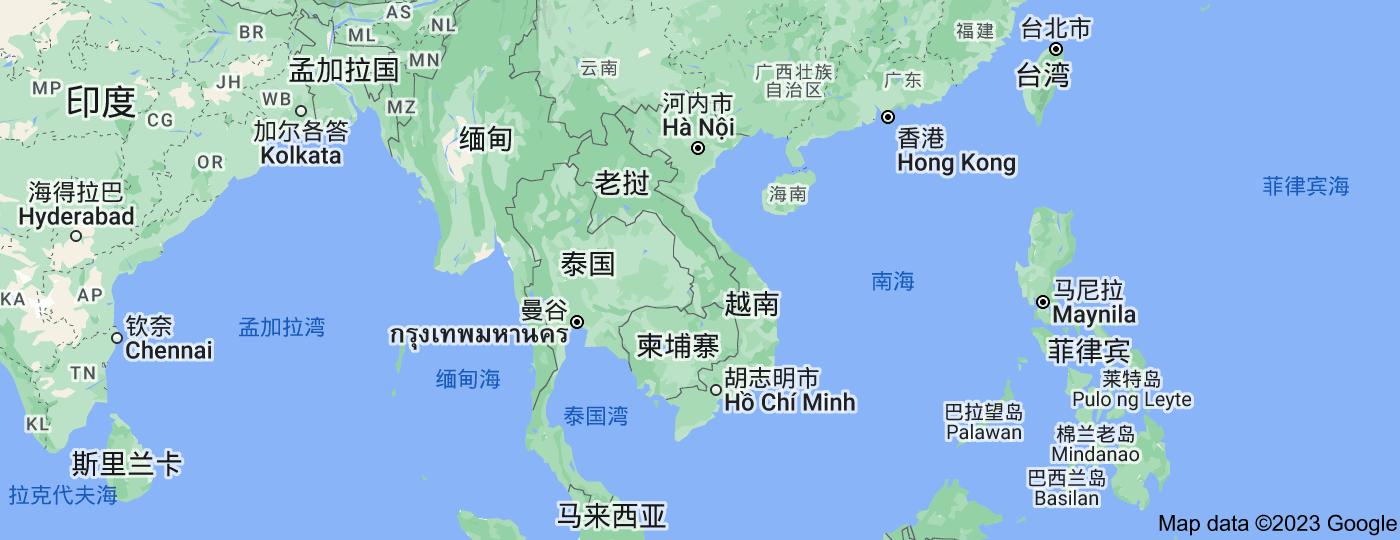 Location of 越南
