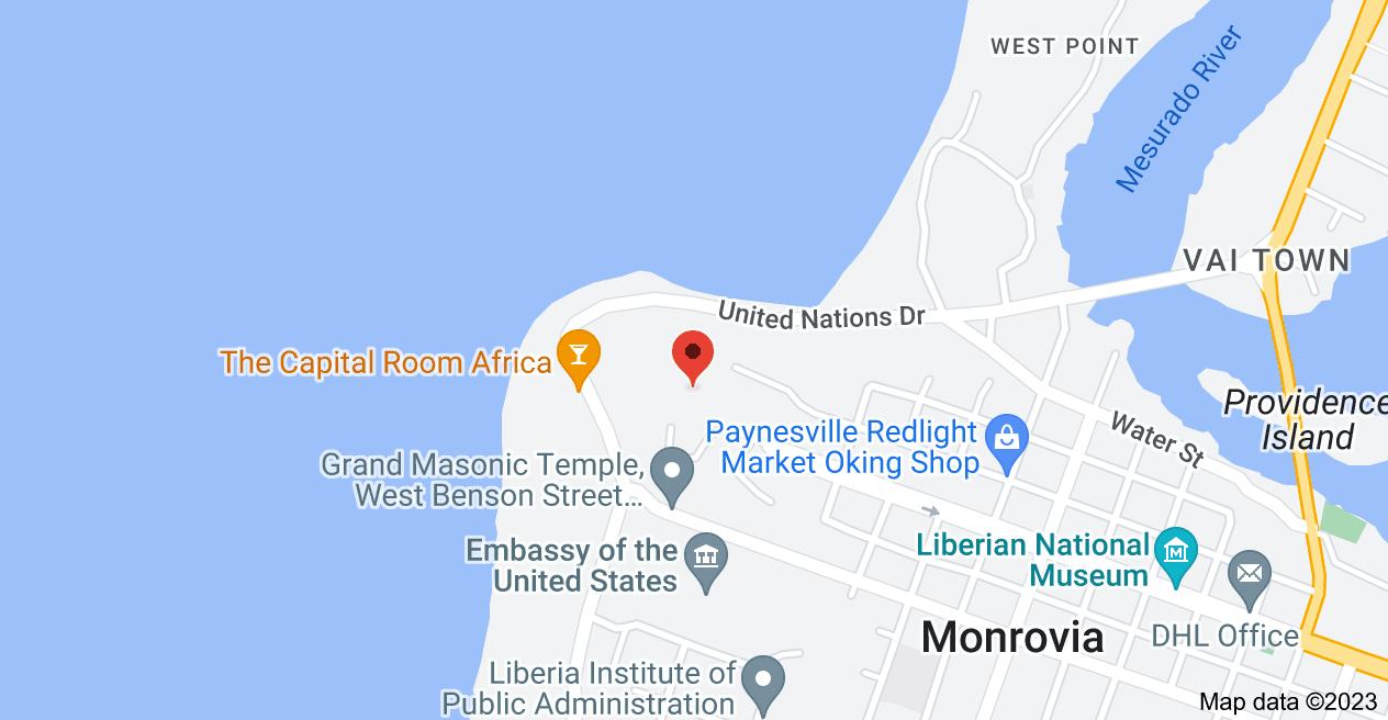 Map of Ducor Hotel, Monrovia, Liberia