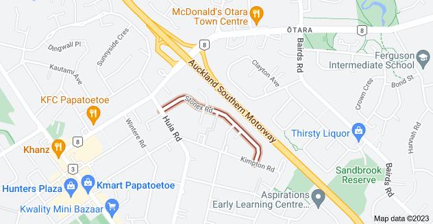 Location of Stonex Road