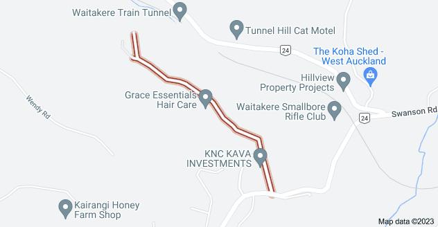 Location of Awhiorangi Promenade