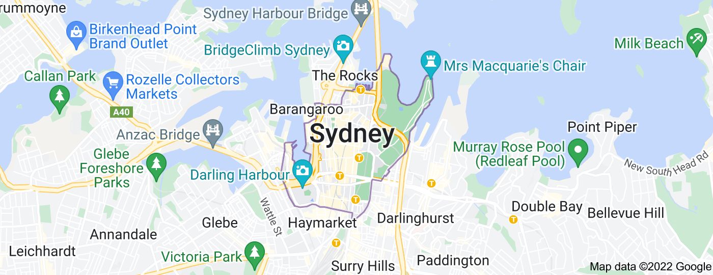 Location of City of Sydney