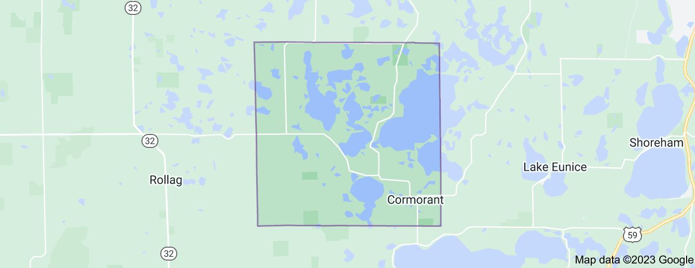 Location of Cormorant Township