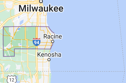 Map of Racine County