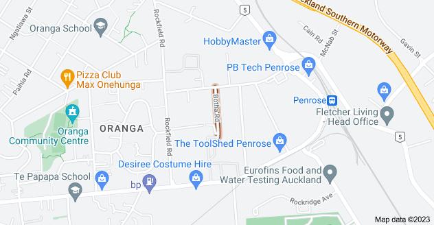 Location of Botha Road
