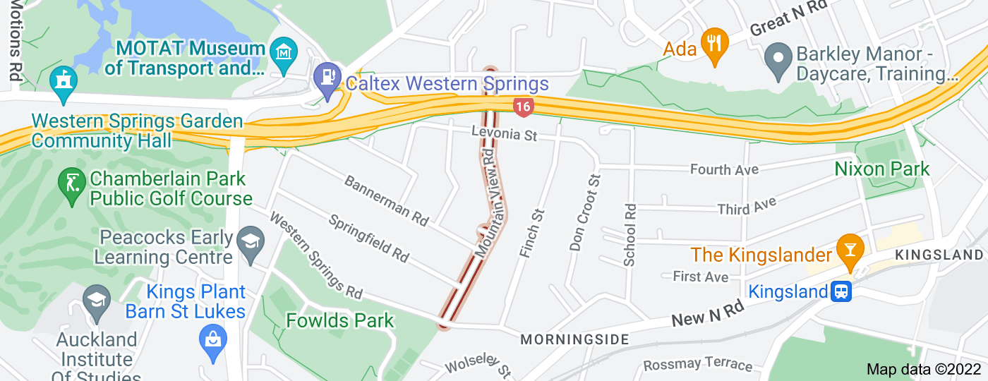 Location of Mountain View Road