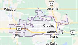 Map of Greeley, Colorado