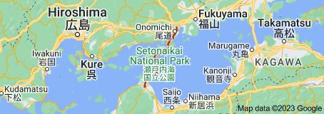 Map of Shimanami Kaidō