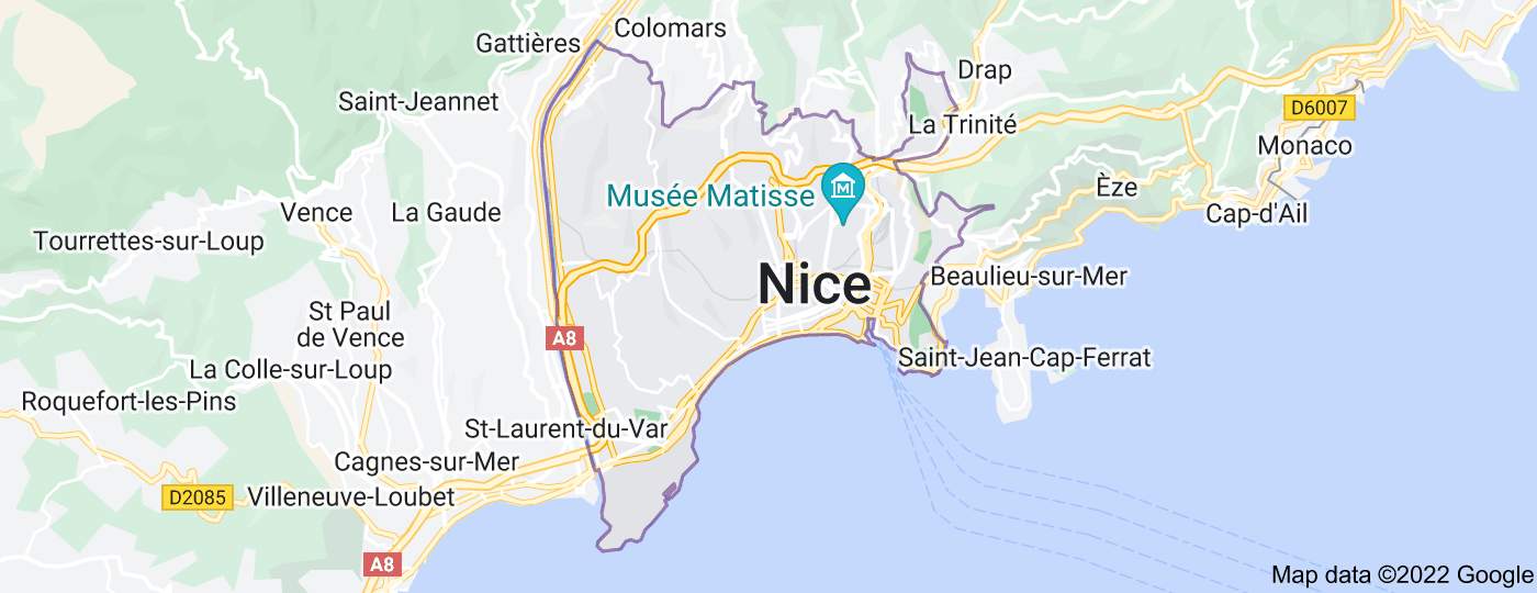 Location of Nice