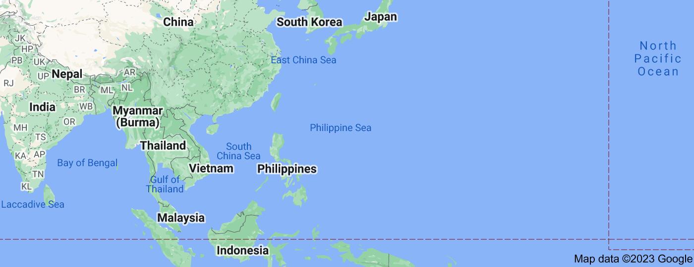 Location of Philippine Sea