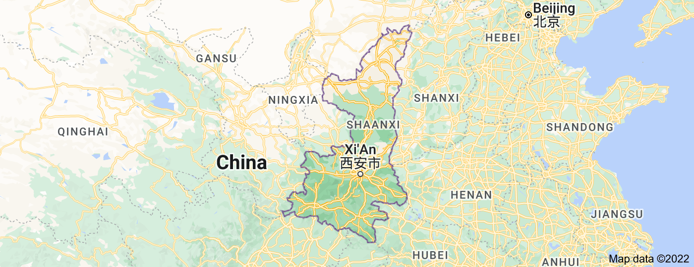 Location of Shaanxi