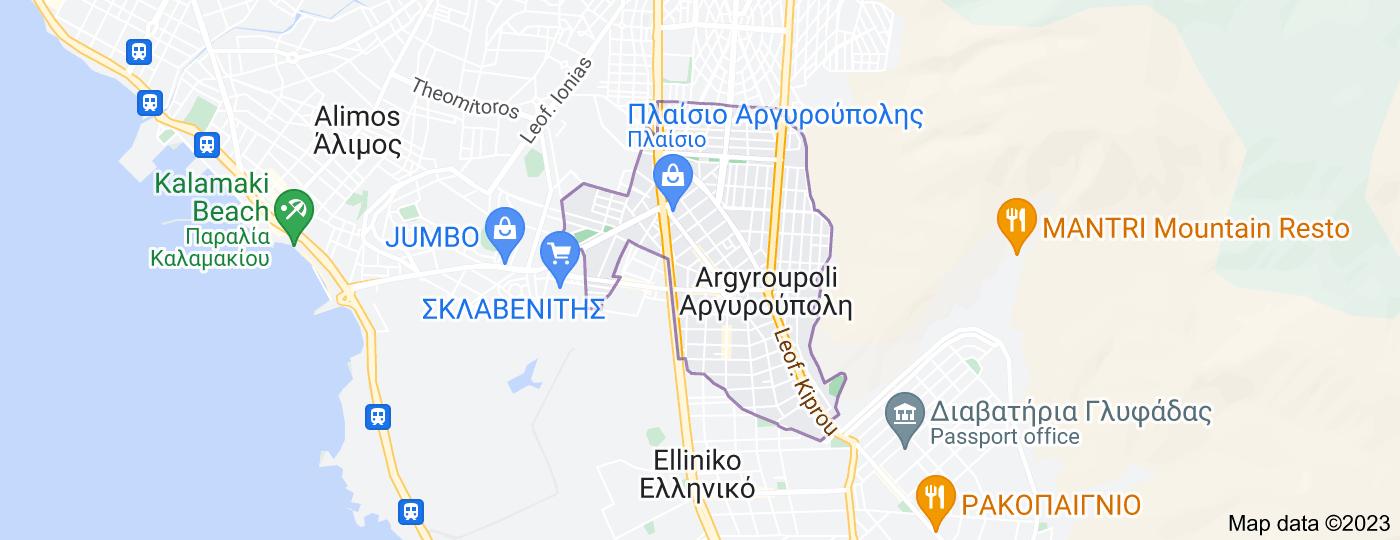 Location of Argyroupoli
