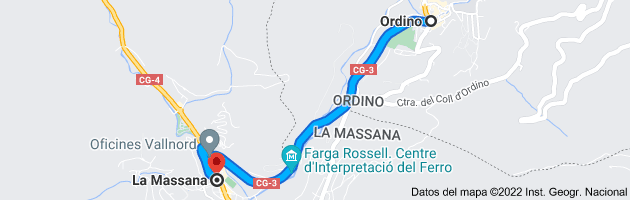 Mapa de Ordino, AD300, Andorra a La Massana, AD400, Andorra
