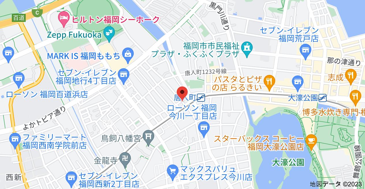 〒810-0064 福岡県福岡市中央区地行1丁目3−14の地図