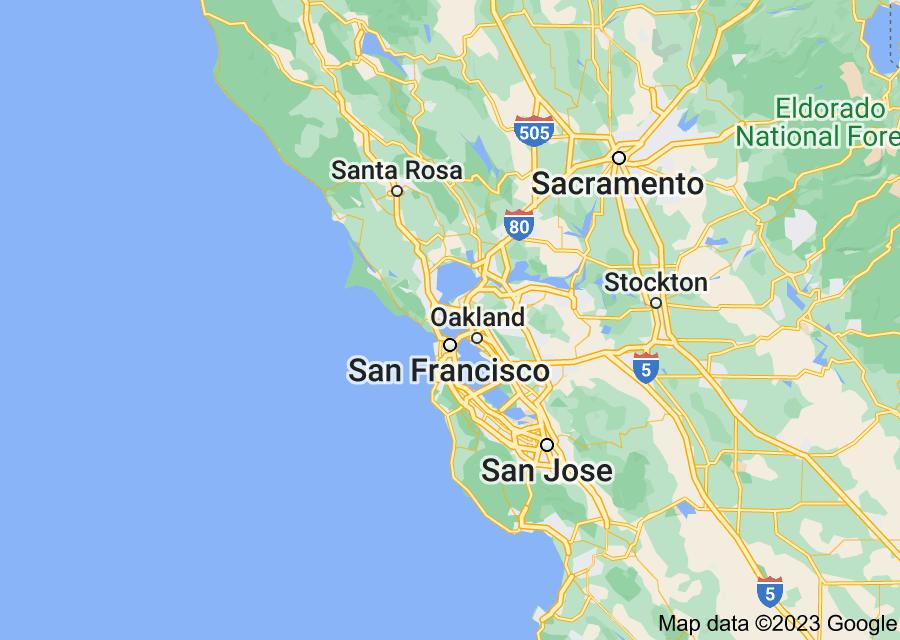 Location of San Francisco Bay Area