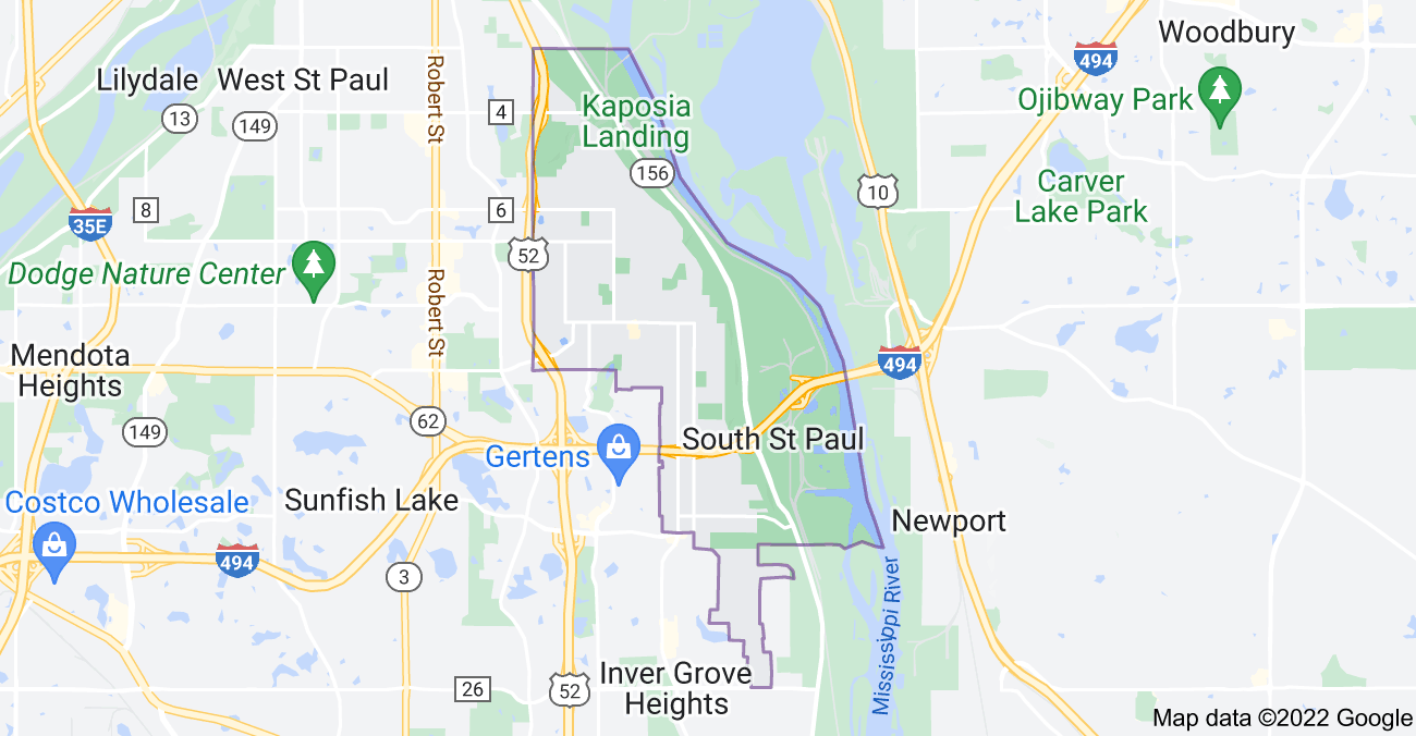 Map of South St Paul, MN