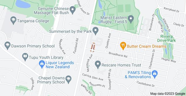 Location of Slipper Avenue