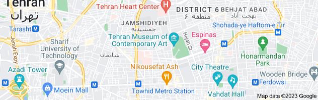 Map of تهران مشهد چارتر